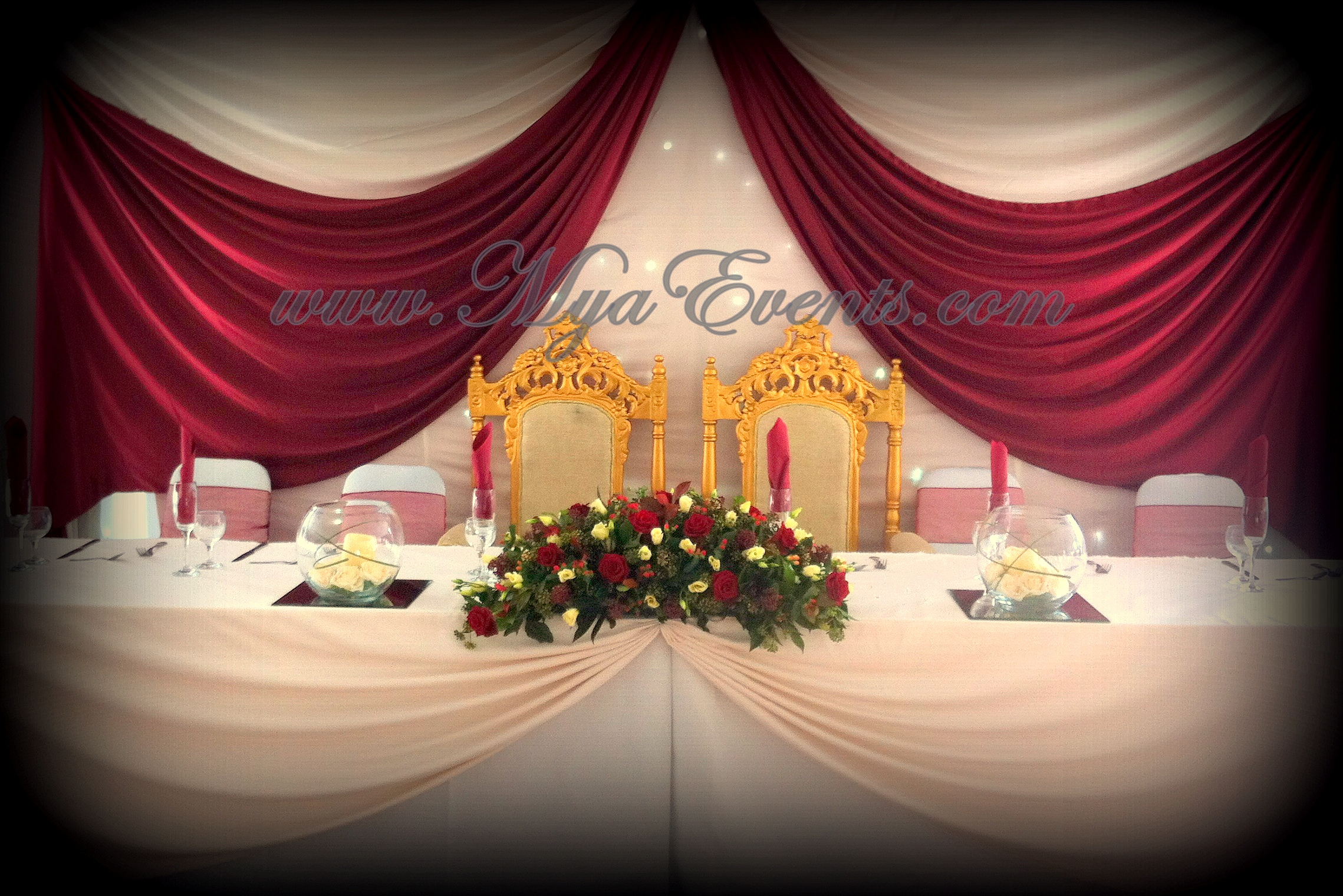 Wedding Table Wedding Table Decorations Hire head table decoration swag hire a35 wedding decorations