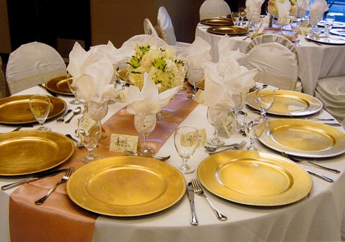Wedding Décor Packages & Gold Charger Plate Hire